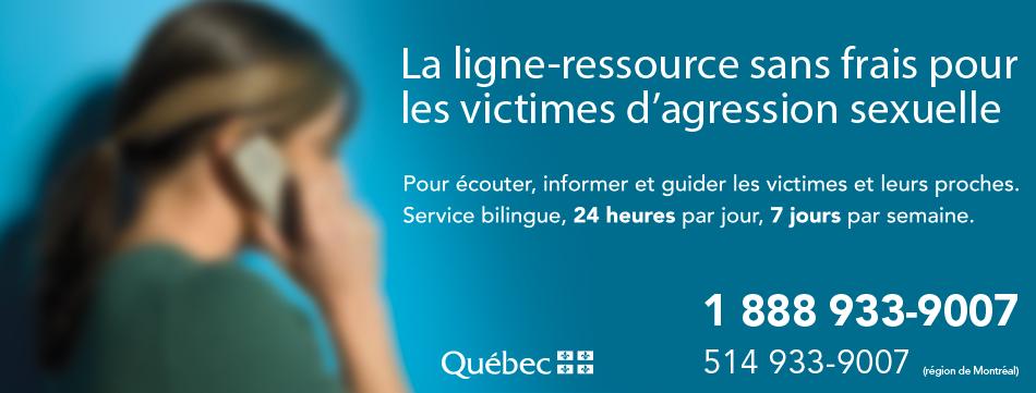 La ligne-ressource sans frais pour les victimes d'agression sexuelle