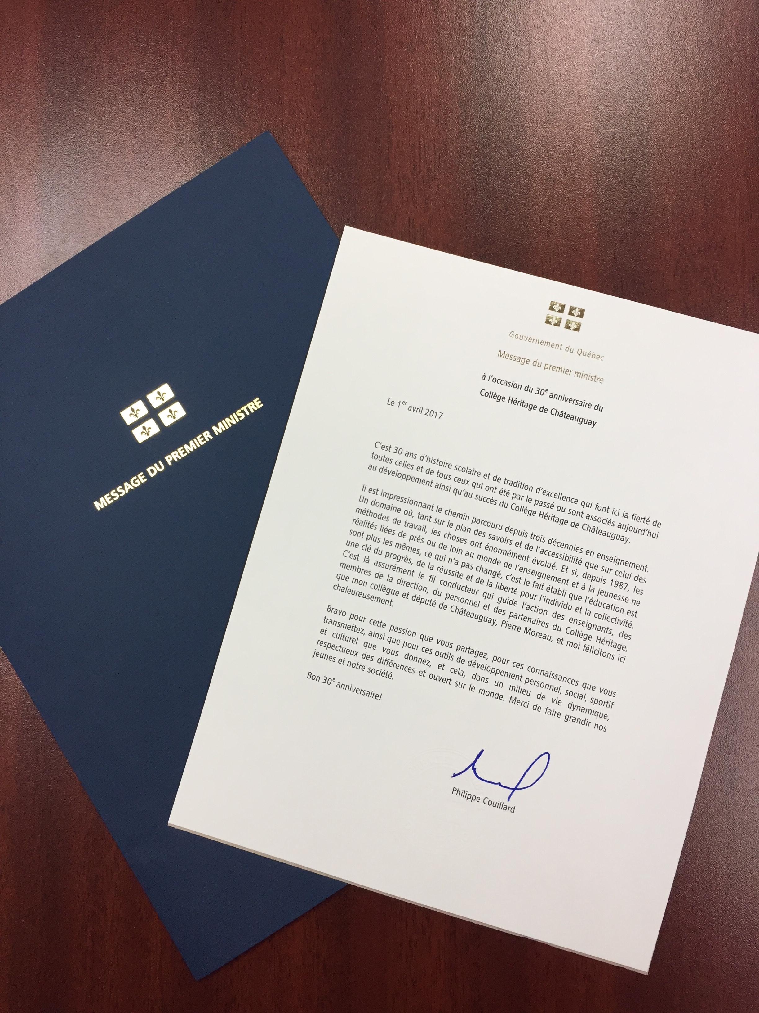 lettre ministre 30e