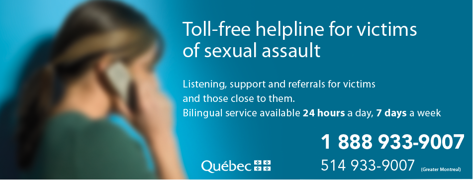 Toll-free helpline for victimes of sexual assault